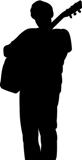 silhouette chitarrista