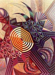 Nella foto un'opera dell'artista Ina Pizzino
