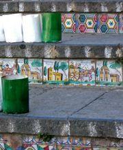 Dettaglio della scalinata di Caltagirone