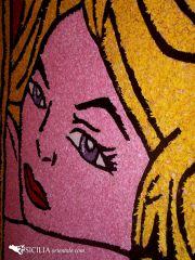 L'infiorata cita Lichtenstein
