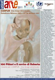 """Manifesto ufficiale della manifestazione """"il sorriso di Roberta per l'UNICEF - Progetto Darfur"""""""