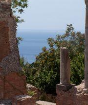 Teatro antico di Taormina, particolare