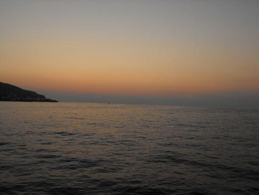 Il mare delle Eolie al tramonto